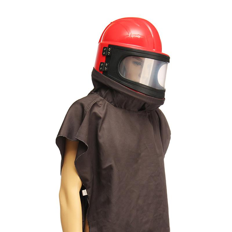 HOLDWIN High Quality ABS Sandblasting Helmet Sand Blast Hood With 1m Feed Air Hose With Shoulder