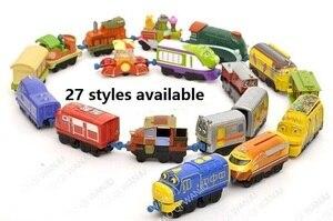 Image 1 - Nowa jedna sprzedaż najlepsza jakość Chuggington kolejka zabawkowa mały stop kolejka zabawkowa metalowy pociąg na prezenty urodzinowe dla dzieci darmowa wysyłka