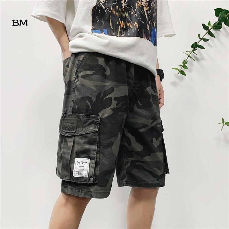2019 Harajuku Modis Shorts Men Summer Camouflage Military Shorts Hip Hop Fashion Streetwear Cargo Shorts Mens 5XL Streetwear