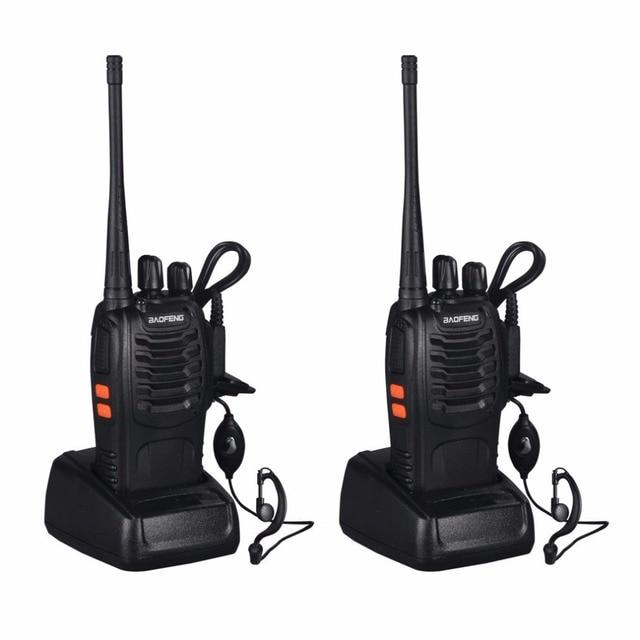 2 piezas baunids ofeng BF-888S Walkie Talkie 5 W Radio de dos vías de mano bf s 888 s UHF 470 MHz 400 frecuencia portátil CB Radio comunicador