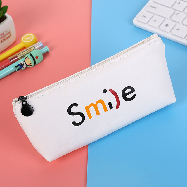 High Quality Pencil Case Pencil Bag Classical Black  White Kawaii School Stationery Office Supplies Students Gifts Storage Bag
