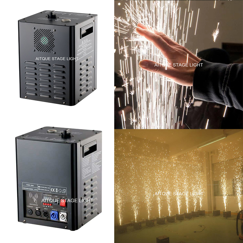 DMX stage cold spark fountain fireworks machine or fountain machine for wedding china cold firework machine indoor wedding fountain dmx display spark system fireworks machine