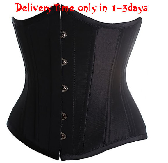 Hot sell, Black/Red/White/Pink colors Goth Underbust Cupless Waist Training Corset Bustier Top S-6XL