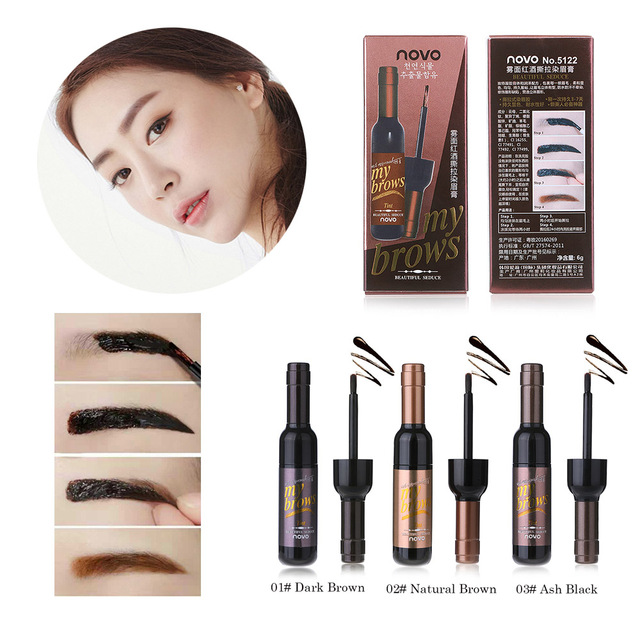 Aliexpress Buy Novo Brand Peel Off Dye Eyebrow Wax Paint Tint