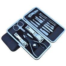 Di Nuovo Modo di Manicure Pedicure Set con Il Caso di Unghie Clipper Kit in Acciaio Inox Casa di Corsa Cura Delle Unghie Strumenti 12 Pcs 88 8 W