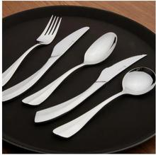 Top craft design perfect arc shape modeling stainless steel knife and fork spoon set high quality tableware 5pcs/set