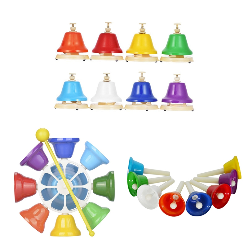 Kids Eight Tone Class Toy Kids Musical Instrument Toys Children Eight Tone Touch Clock Early Education Play Toys Child Bells Toy