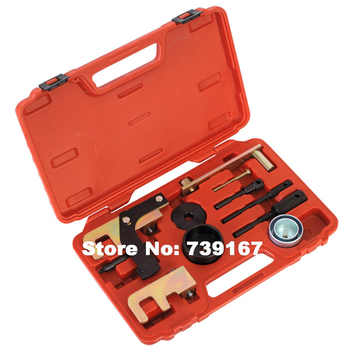 Diesel Engine Camshaft Crankshaft Locking Belt Tensioner Alignment Timing Tool Kit For Renault Nissan Vauxhall Opel ST0066 engine timing tool kit for renault vauxhall petrol engines 1 4 1 6 1 8 2 0 16v belt driven