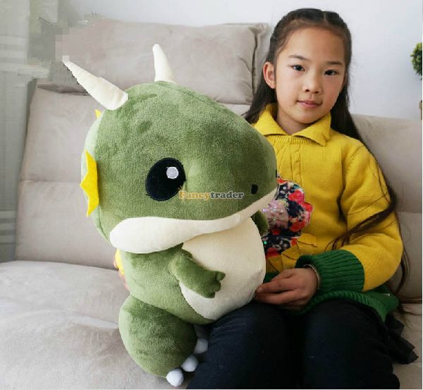 Fancytrader 2015 New Arrival 24'' / 60cm Big Soft Stuffed Plush Lovely Cartoon Dracoo Lite Dinosaur Toy, Free Shippig FT50753 fancytrader new style giant plush stuffed kids toys lovely rubber duck 39 100cm yellow rubber duck free shipping ft90122