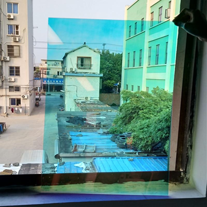 Film vinyle effet arc-en-ciel 68 cm x 500 cm Film bricolage Cosplay décoration de bâtiment Film teinte solaire Film teinte irisée maison/centre commercial