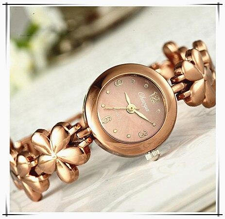 New Women Watches Female Quartz Analog Wristwatch Rose Gold