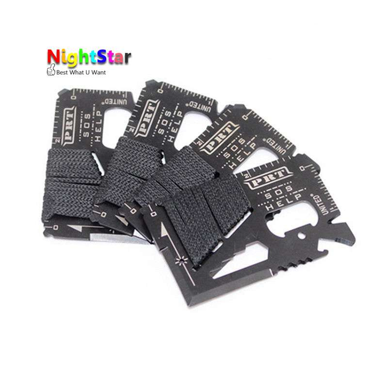16 in 1 Multi Wallet Pocket Credit Card Knife Camping Outdoor Survival EDC Tools Multi-function tool Bottle Opener edc 8 in 1 bottle opener keychain gadget multi function key clip