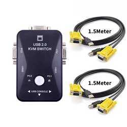 Ingelon KVM коммутатор vga кабель Высокое качество USB 2,0 vga сплиттер коробка для USB ключ клавиатура мышь Мониторы адаптер usb переключатель принтера