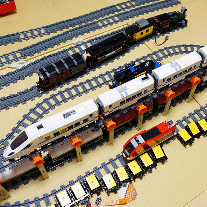 IN-STOCK Lepin 02010 New 610Pcs Series The High-speed Passenger Train Building Remote-control Trucks Set Blocks Bricks Toys60051 lepin 02010 610pcs city series building blocks rc high speed passenger train education bricks toys for children christmas gifts
