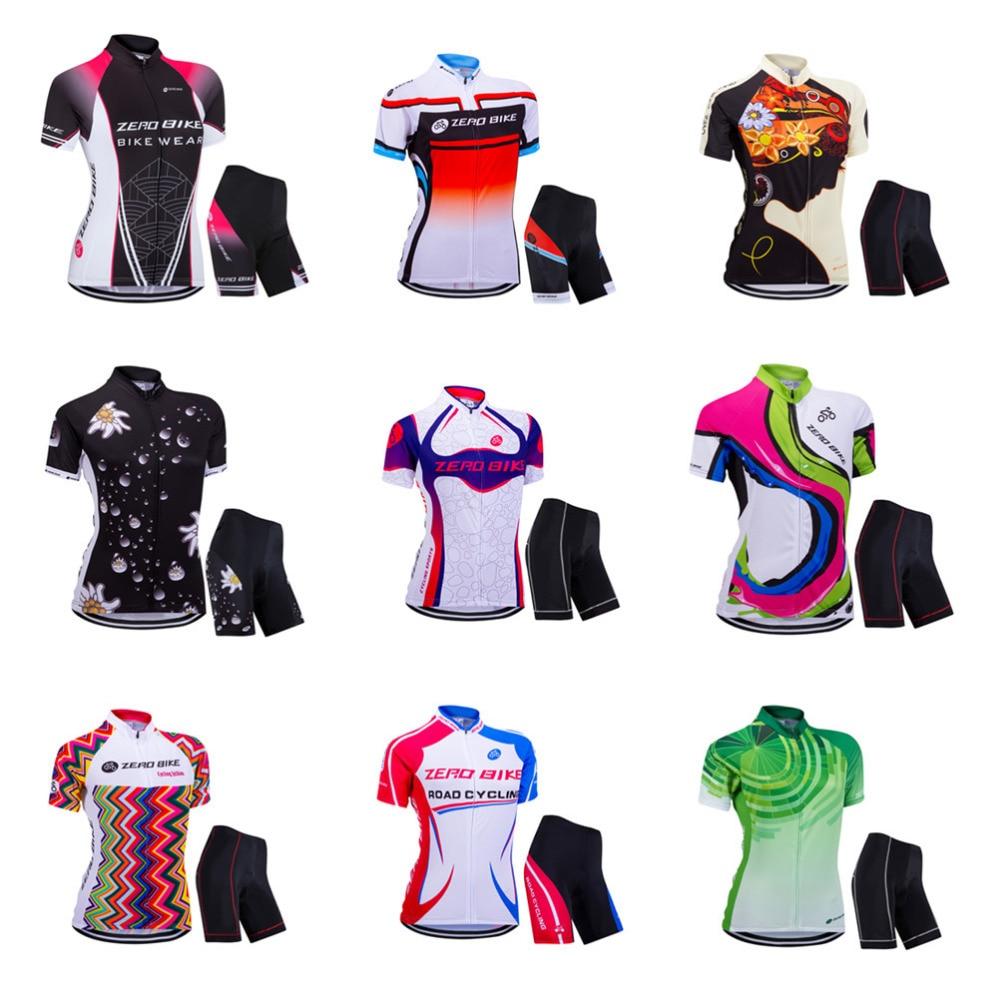 ZEROBIKE alta calidad para mujer MTB Bike Quick Dry Jersey Shorts 3D acolchado verano camisa deportiva Tops Ropa de Ciclismo Ropa Ciclismo