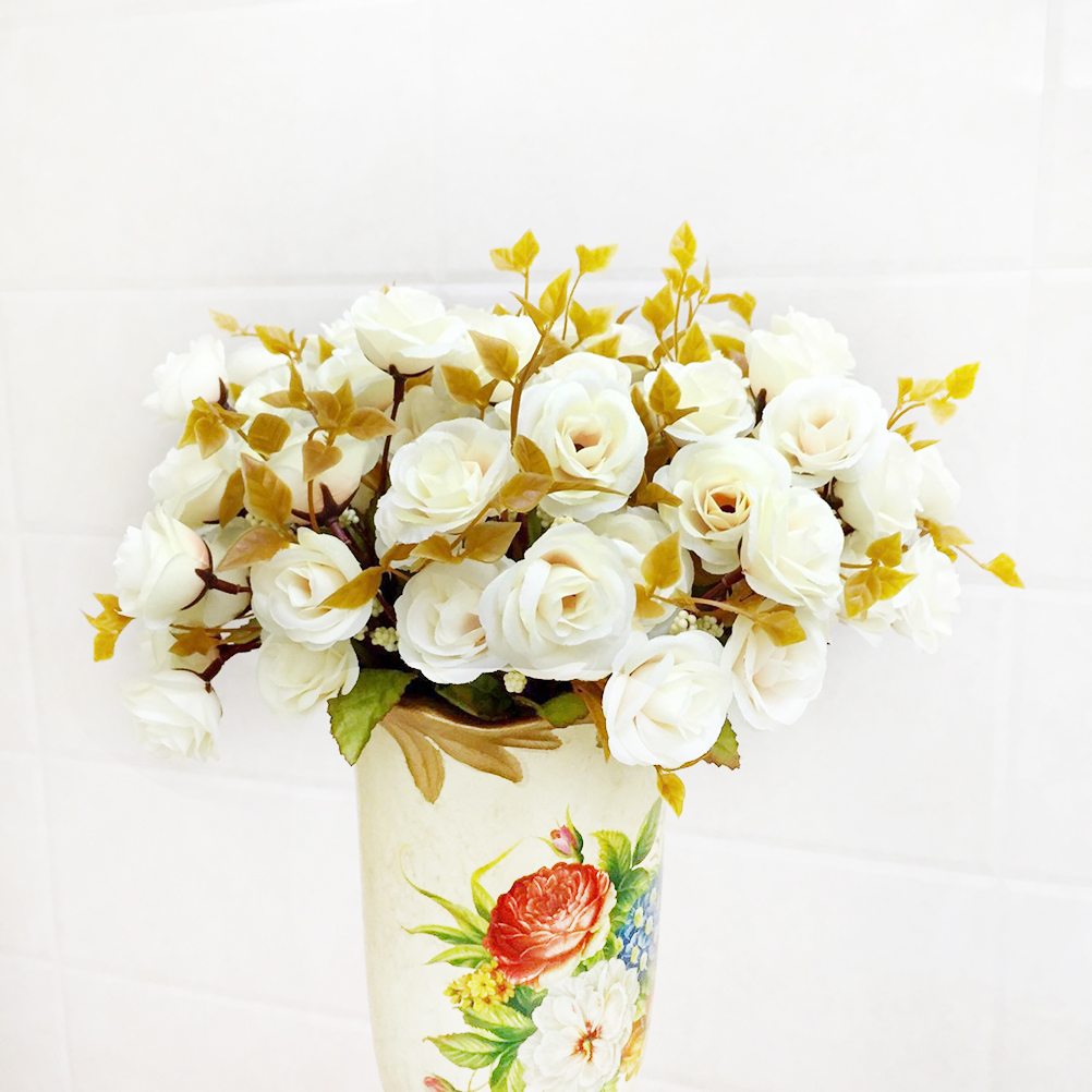 Compare prices on silk lotus online shoppingbuy low price silk leaf bouquet wedding home decoration artificial fake silk rose lotus flowerschina mainland dhlflorist Image collections