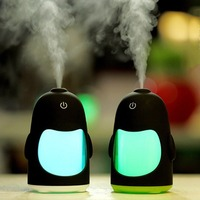 150ML Penguin Ultrasonic USB Aroma Humidifier Essential Oil Diffuser Home Office Mini Aromatherapy Colorful LED Night