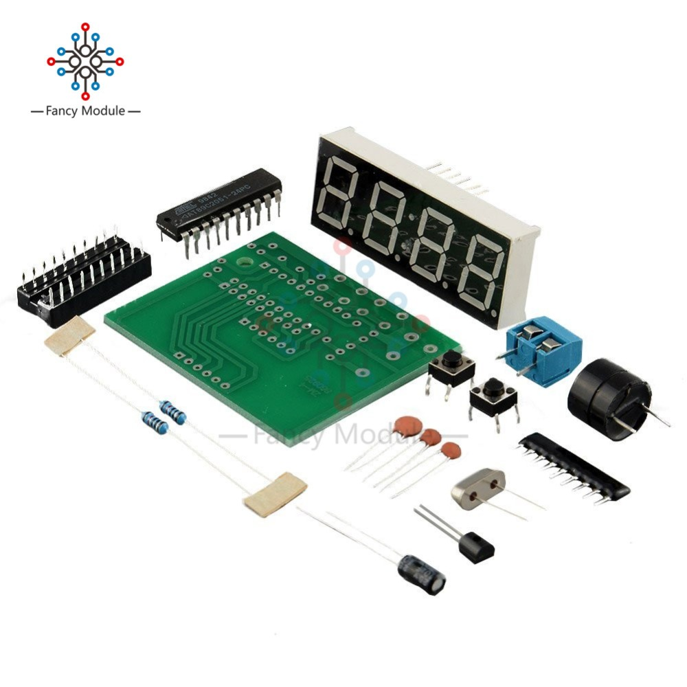 цена на AT89C2051 C51 4 Bits Electronic Clock Electronic Production Suite DIY Kits C51 Electronic Clock