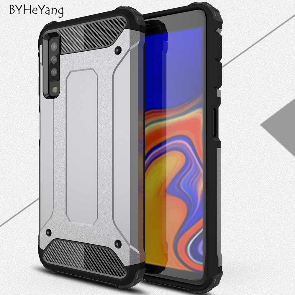 the best attitude b9a1a e8cd0 For Samsung A7 2018 Case Silicone Shockproof Slim Hard Tough Rubber Armor  Cases for Samsung Galaxy A7 2018 SM-A750F A750F Cover