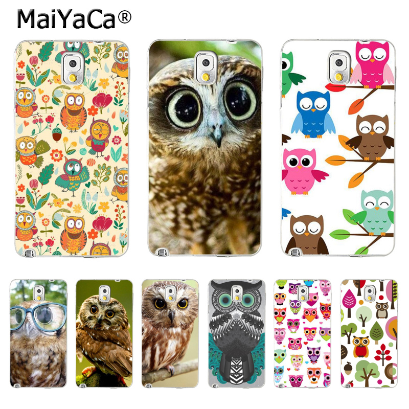 MaiYaCa Cute Owl Wallpaper Phone Accessories Case for Samsung Galaxy S3 S4 S5 S6 S7 S8