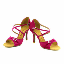 YOVE w167 2 Dance Shoe Satin Women s Latin Salsa Dance Shoes 3 5 Slim High