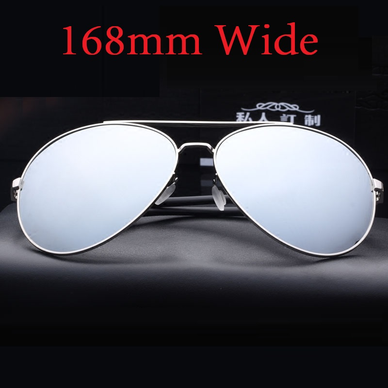 Vazrobe (168mm) Oversized Sunglasses Polarized Men Driving Sun Glasses for Man Aviation Mirrored Sunglass Large Face Fat Male