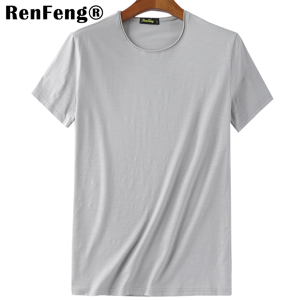 Blank T-Shirt Men T Shirt Short Sleeve Tshirts Solid Bamboo Fiber Homme Tee Shirt For Men 3XL Hot Sale Summer Clothes Colorful (5)