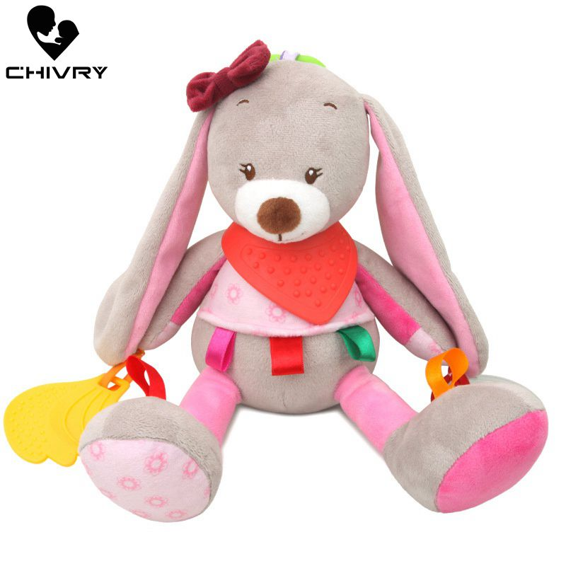 Baby Rattles Toys Infant Baby Panda Owl Plush Toy Bed Wind Chimes Newborn Kids Crib Stroller Bed Hanging Bells Teether Toys