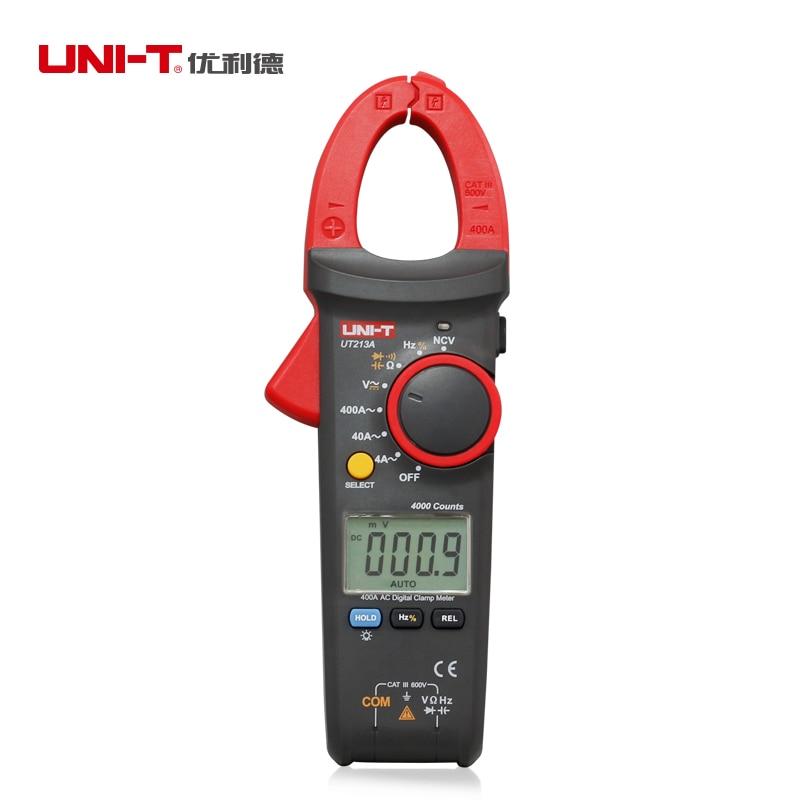 UNI T 400A clamp meter UT213 series TRMS AC DC current Voltage resistance capacitance temperature tester