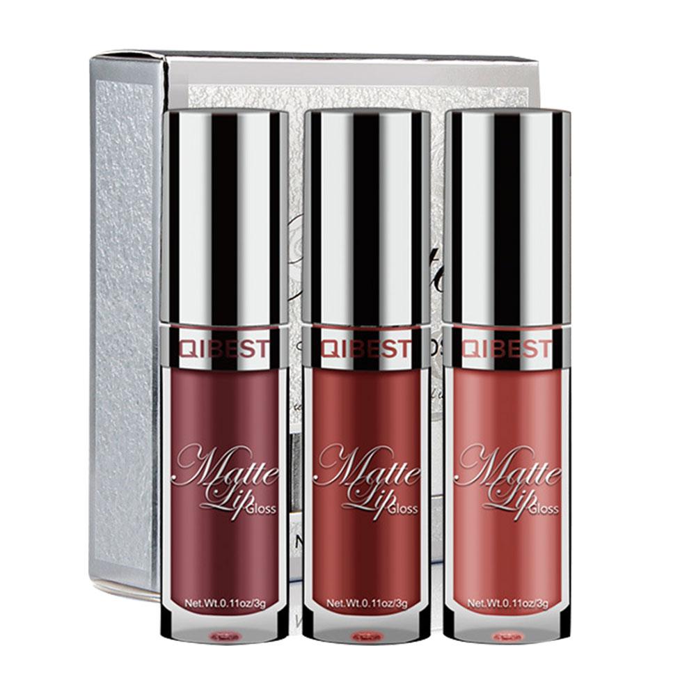 Waterproof Matte Nude Liquid Lipstick Dark Red Black Long