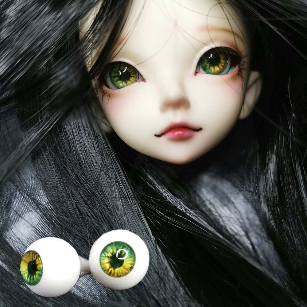 Beautiful 10MM Glass BJD Eyes Green Pupil/&Iris For DOD DZ 1//6 BJD Doll
