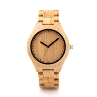 BOBO BIRD Bamboo Wooden Watches Men Japan Movt 2035 Quartz Watches Special For Drop Shippers With