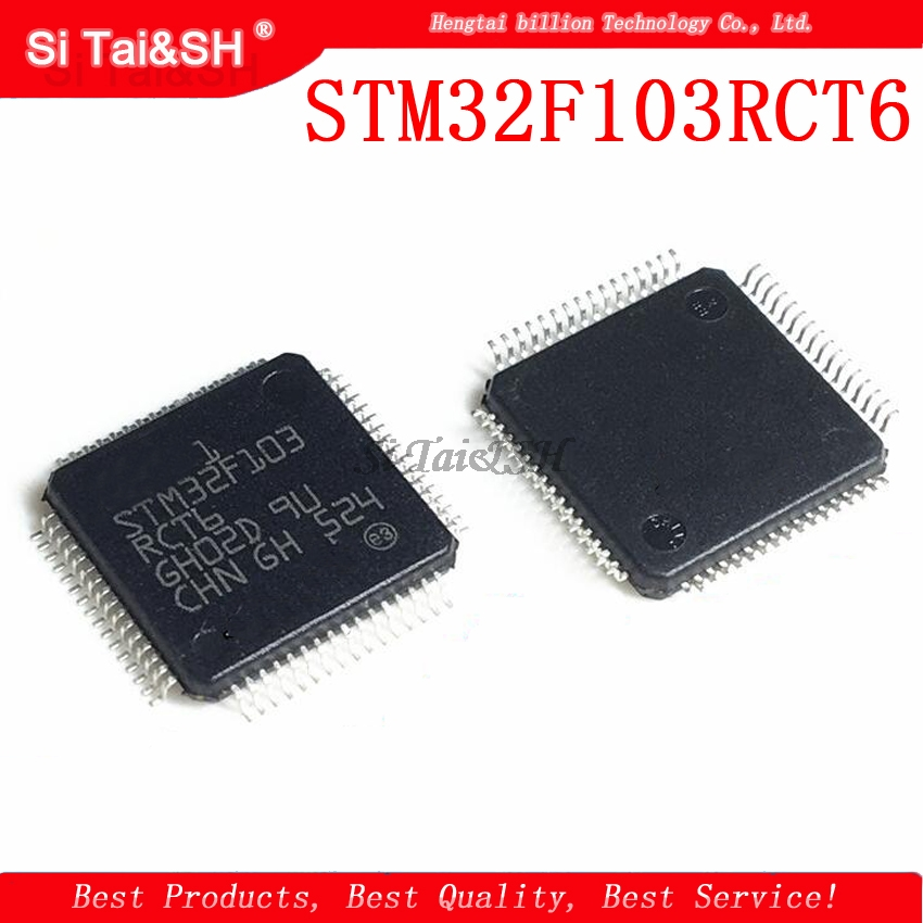 1pcs STM32F103RCT6 STM32F103 The Patch  32-bit Microcontrollers CORTEXM3 256 K Flash Memory Chip QFP
