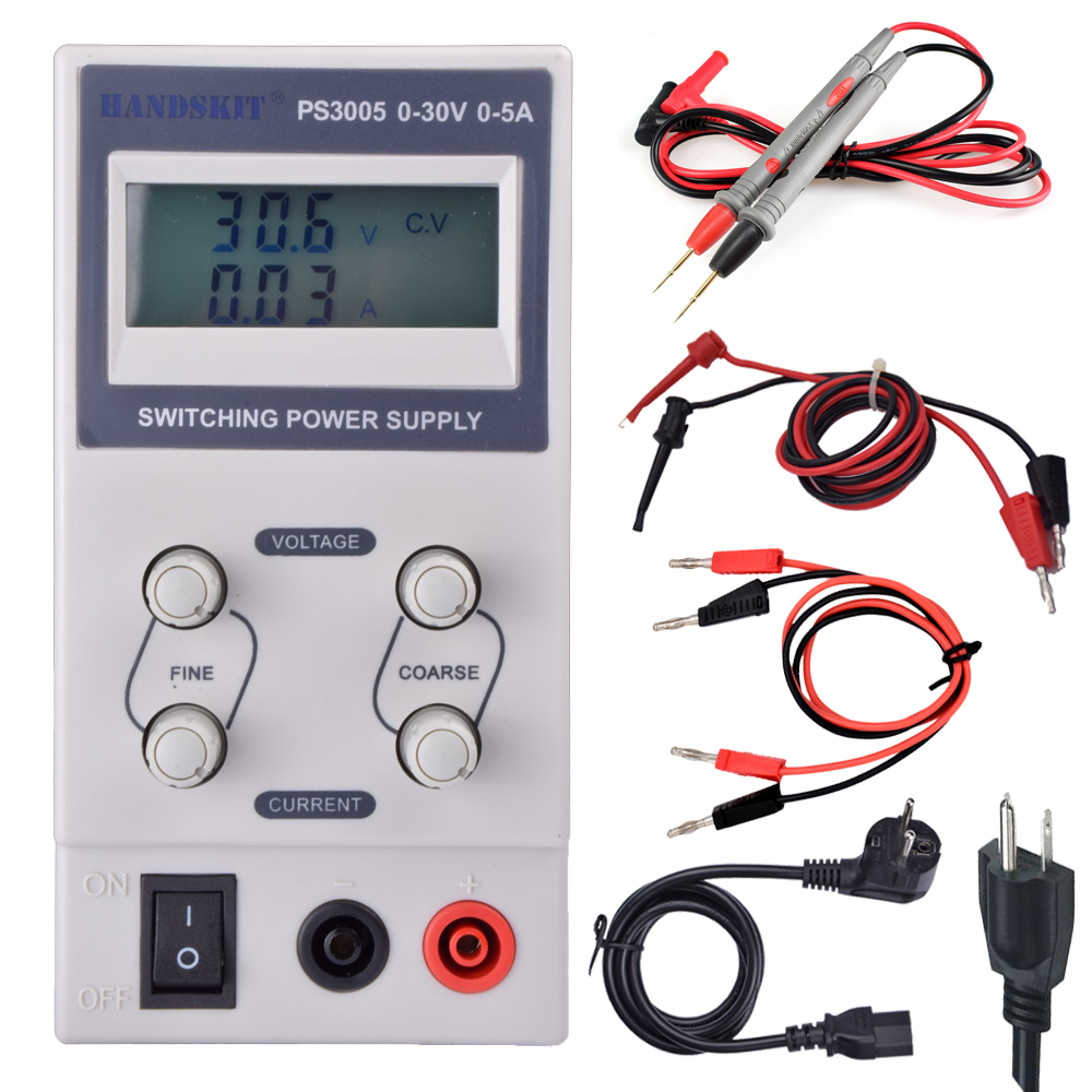 220V-110vMini Switching Regulated Adjustable DC Power Supply 30V 5A Variable  ps-3005 supplier cps 6011 60v 11a digital adjustable dc power supply laboratory power supply cps6011