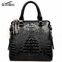 QIAOBAO 2017 neue leder handtasche krokoprägung ledertasche luxus handtaschen diagonal tragbare schultertasche