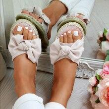 LITTHING/женские тапочки с бантом; женские шлепанцы; повседневная обувь с открытым носком; женская уличная пляжная обувь; Новинка года; Вьетнамки; Прямая поставка