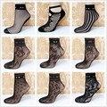 10 par/lote 21 estilos de Señora Girl Sexy Mallas de Encaje de Nylon calcetines de Malla Fina de Las Mujeres Calcetines Cortos de Color Negro Para la Primavera, summer