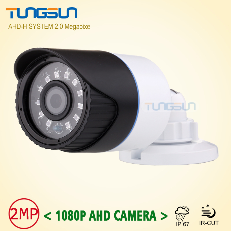 New 2MP HD 1080P AHD Security Camera CCTV White Metal Mini Bullet Video Surveillance Outdoor Waterproof infrared Night Vision hot 2mp hd cctv 1080p ahd camera 3000tvl outdoor waterproof mini small metal black bullet ir security surveillance cam