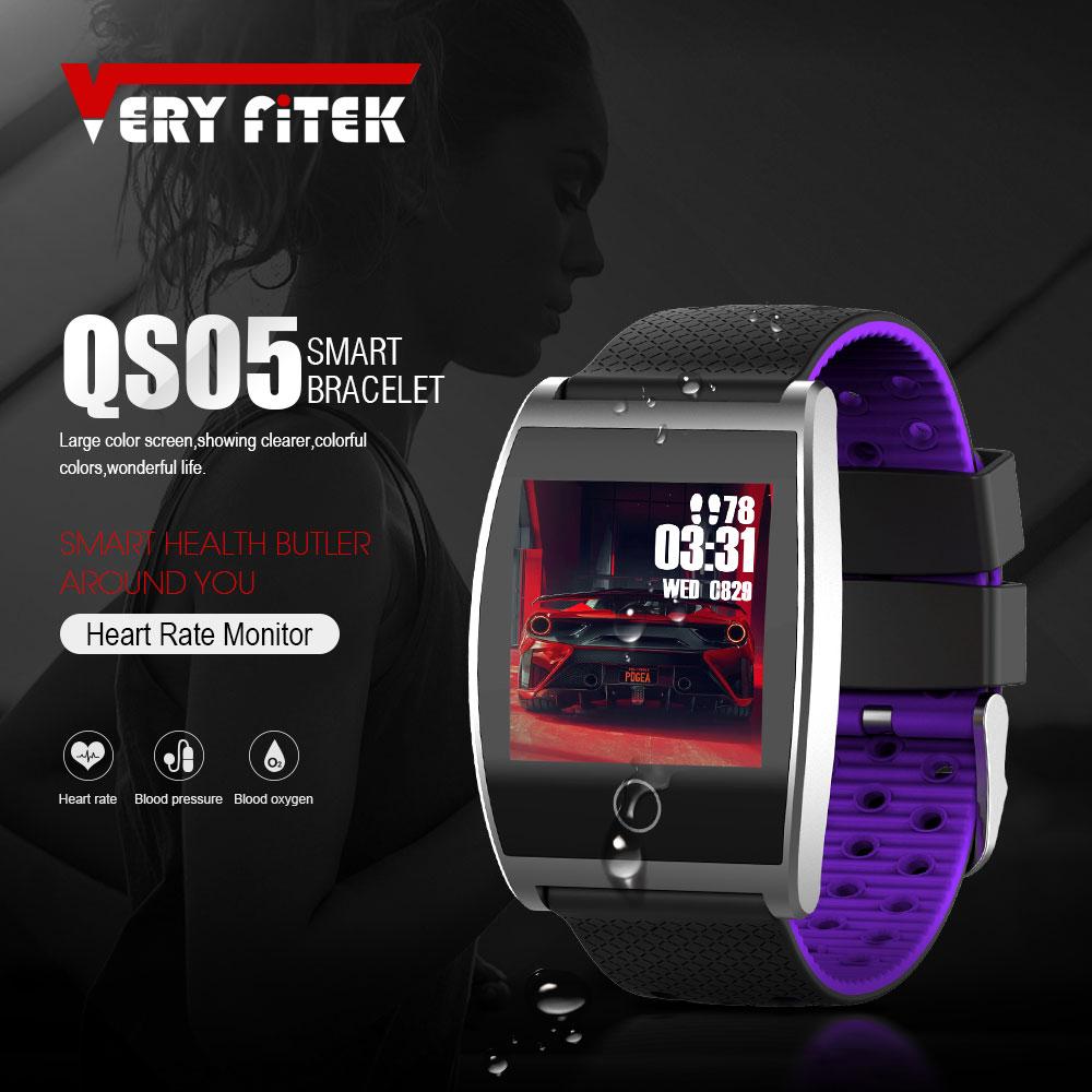 VERYFiTEK QS05 Smart Armband Uhr Blutdruck Sauerstoff Smart Band Anpassen Uhr Zifferblatt Herz Rate Monitor Fitness Armbänder
