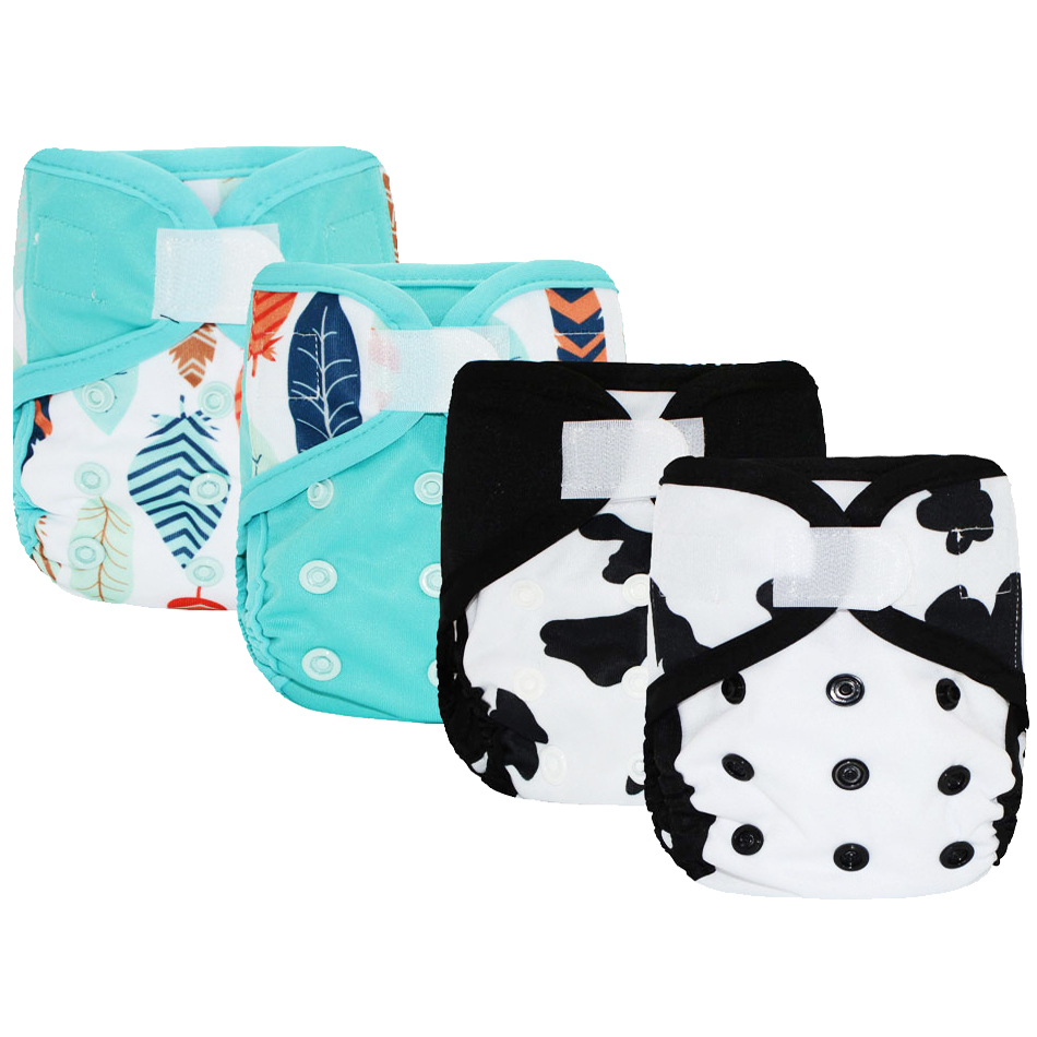 Image 5 - Miababy(4pcs/lot) Newborn  Cloth Diaper Cover, Fit Baby 3 5kg or 0 3 months.-in Baby Nappies from Mother & Kids
