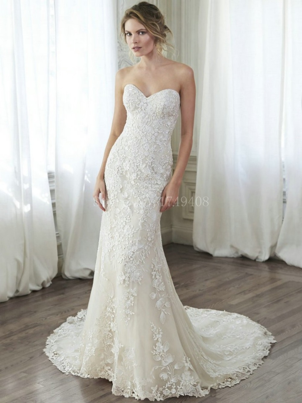 Hot selling vintage lace sheath wedding dress 2015 sexy for Selling your wedding dress