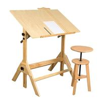 Vintage Drafting Table Adjustable Drawing and Drafting Table with 39.2W x 27.5 D Surface