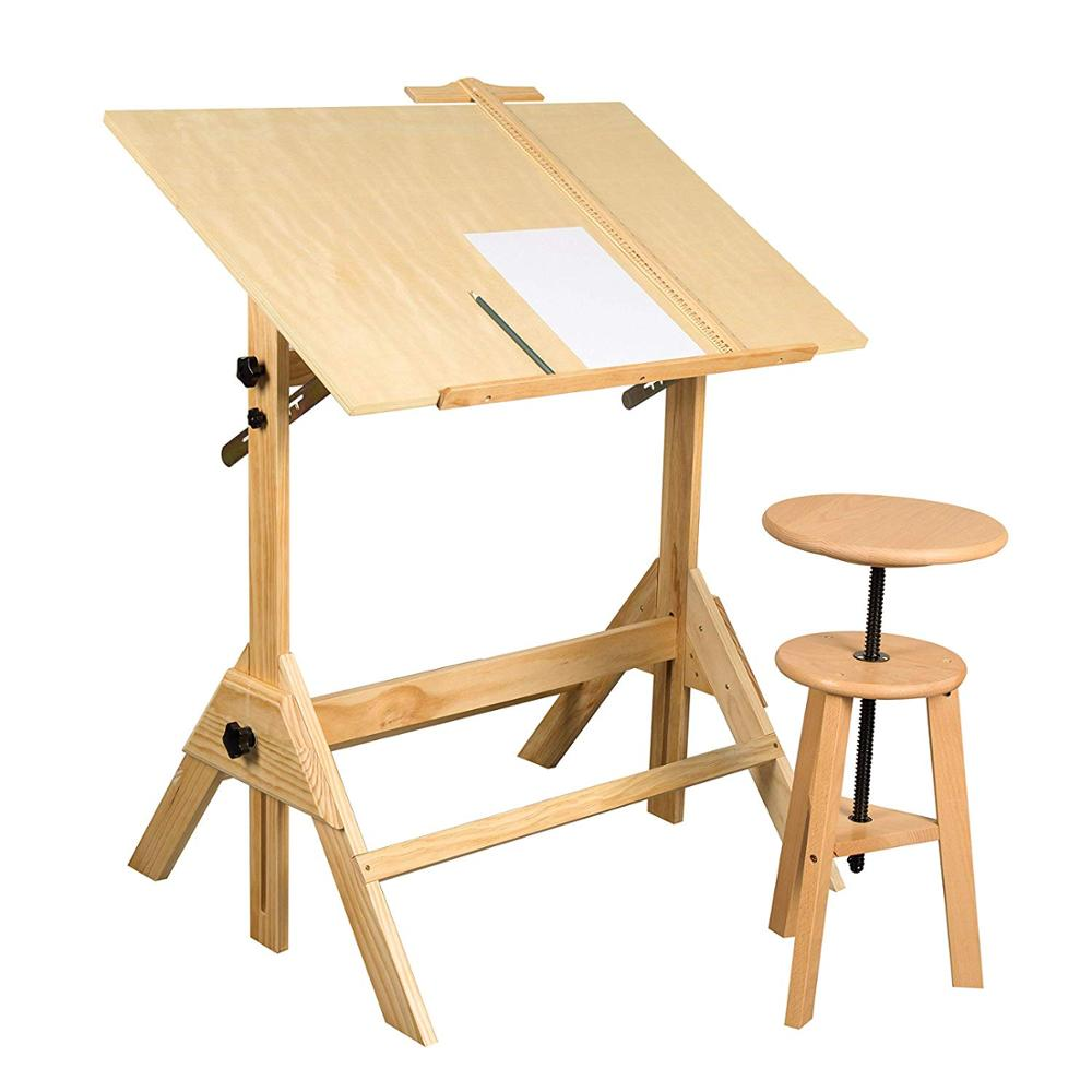 Vintage Drafting Table Adjustable Drawing and Drafting Table with 39.2W x 27.5 D SurfaceVintage Drafting Table Adjustable Drawing and Drafting Table with 39.2W x 27.5 D Surface