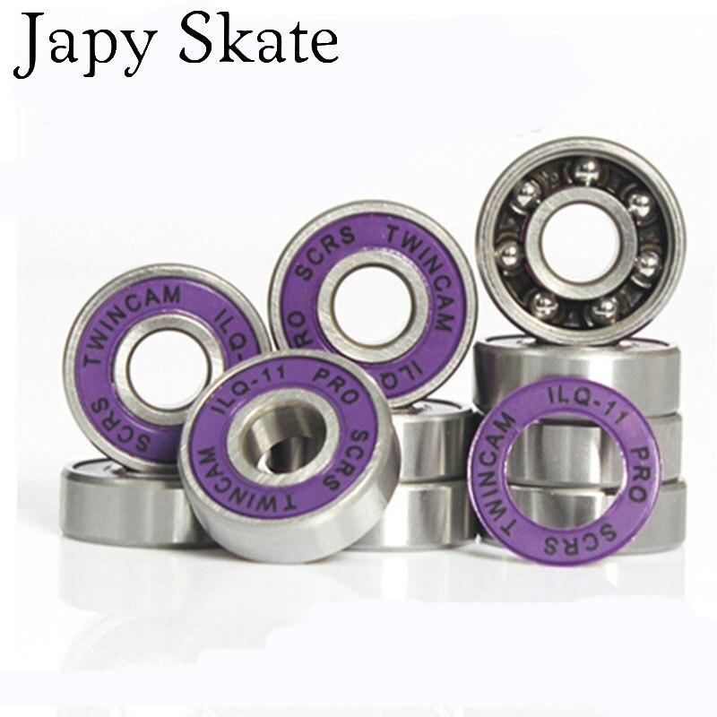 Japy Skate 16 Pieces Free Shipping SEBA TWINCAM ILQ-11 Miniature Ball Radial Ball Bearings Good Quality Skating Bearings ABEC-11
