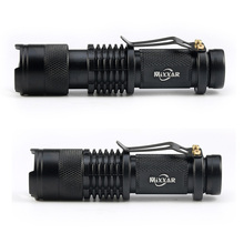 Portable Q5 +COB Mini Black 4000LM Waterproof LED Flashlight Zoom LED Torch penlight  Use AA 14500 Battery Lighting lantern