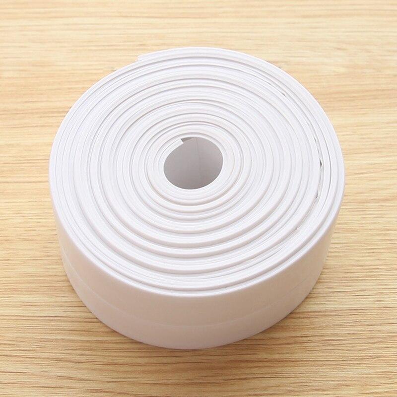 22mm/38mm * 3,2 M PVC cocina impermeable y a prueba de moho cinta para mejorar el hogar DIY Limpieza de cocina y baño pegatinas de pared cinta 3m cinta de doble cara cinta adhesiva transparente sin seguimiento pegatinas impermeables fuerte mejora del hogar