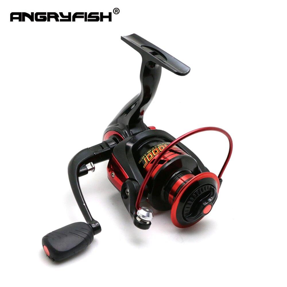 ANGRYFISH 3000/4000/5000 Spinning Reel 4,7: 1 Gear Ratio Metal bobina carrete pesca Spinning 8 + 1BB rodamiento rueda de pesca