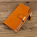 New Brand Design Fashion Genuine Leather Wallet High Quality Purse Women's Wallet Female Card Horders Hasp Cowhide Purse Bag