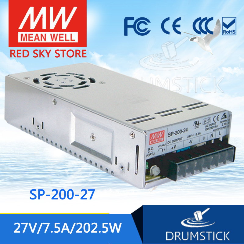 leading products MEAN WELL SP-200-27 27V 7.5A meanwell SP-200 27V 202.5W Single Output with PFC Function Power Supply  [mean well] original sp 150 27 27v 5 6a meanwell sp 150 27v 151 2w single output with pfc function power supply