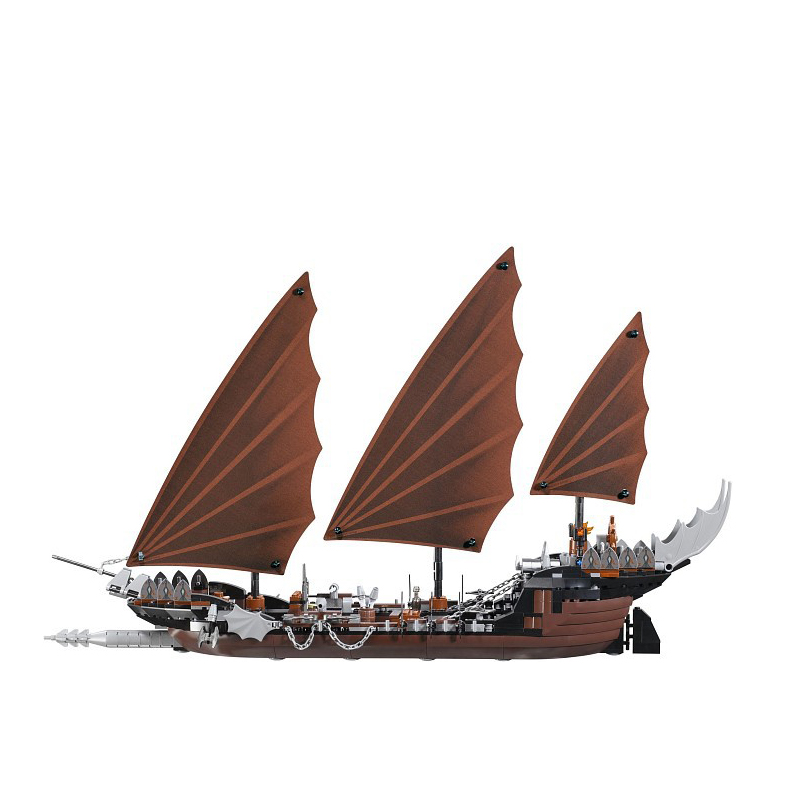 2017 NEW Lepin 16018 Genuine The lord of rings Series The Ghost Pirate Ship Building Block Educational Brick for DIY Toys 79008 lepin 22001 pirate ship imperial warships model building block briks toys gift 1717pcs compatible legoed 10210